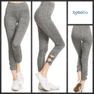 Active Leggings with Bow Cutout Detailed